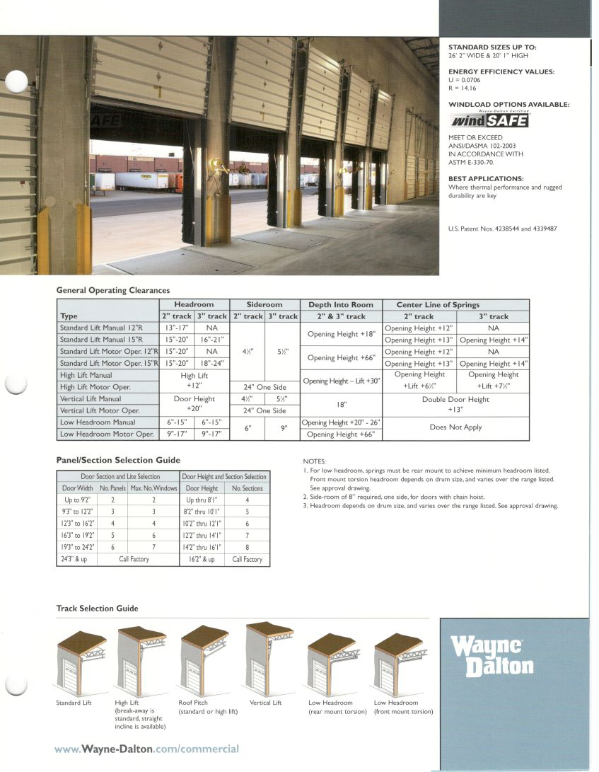 Commercial overhead door sizes insulated steel overhead for Overhead garage door sizes